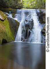 Large pool underneath a waterfall - Widow Falls at North ...