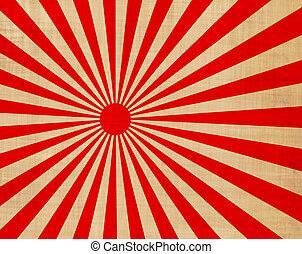 japansese rising sun - large red and white japansese rising ...