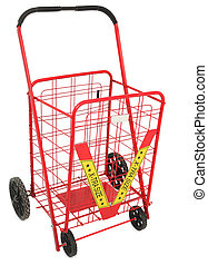 Large Red Push Cart