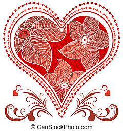 Large red vintage heart