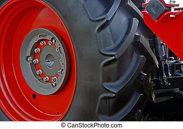 Large red wheel rim with rubber-2