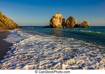 Large rocks off the coast of Cyprus