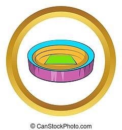 Large round stadium icon