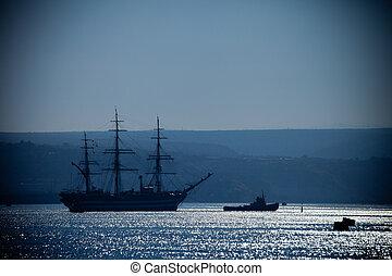 Large sailing ship