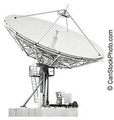Large satellite dish parabolic antenna designed for...