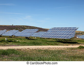 Large scale solar farm in Spain. Solar energy is becoming an...
