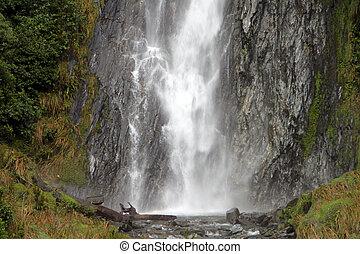 large scenic waterfall