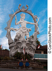 Large sculpture in Ubud, Indonesia, Bali - A large sculpture...