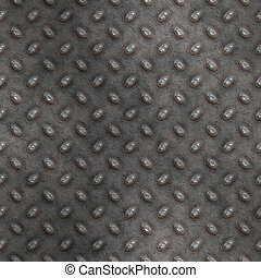 tread plate - large seamless image of old grungy worn tread...