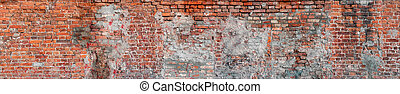 large seamless texture of a brick wall with cracks