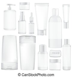 set of containers for cosmetics