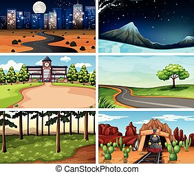 Large set of different backgrounds