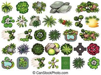 Large set of different plants