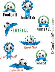 Large set of vector football emblems