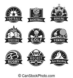 large set of vector logos for sports