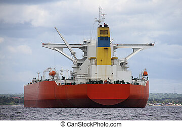 Large ship sailing in water