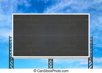 large sign board with blue sky background
