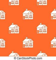 Large single-storey house pattern seamless