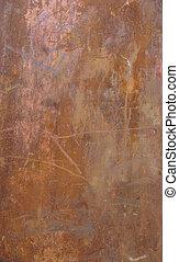 large slate of rusted metal