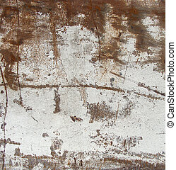 large slate of white rusted metal