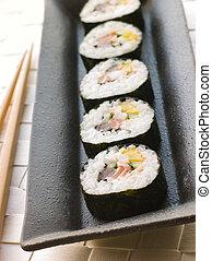 Large Spiral Rolled Sushi