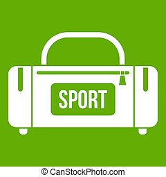 Large sports bag icon green