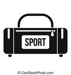 Large sports bag icon, simple style