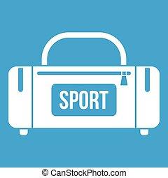 Large sports bag icon white