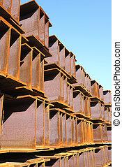 large steel girder, industrial site