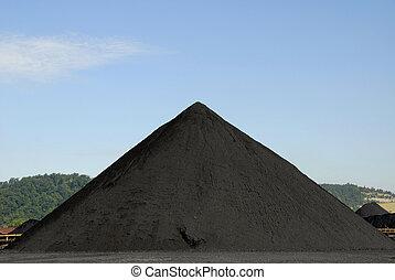 Stockpile of Coal - Large Stockpile of Coal