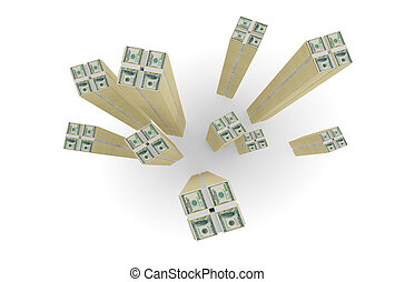 Large stocks of dollars.