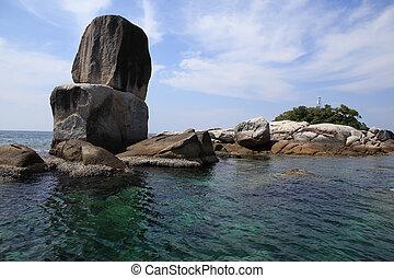 Large stone arch stack at Andaman sea near Koh Lipe, ...