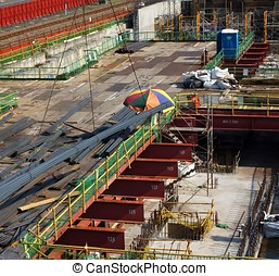 Large Subway Construction Site