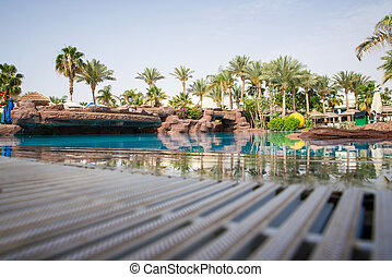 Large swimming pool w