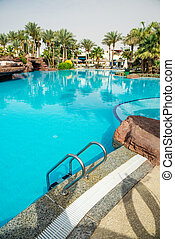 Large swimming pool with