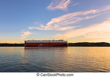 Large tanker ship ready to set sail