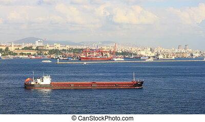 Large tanker ship