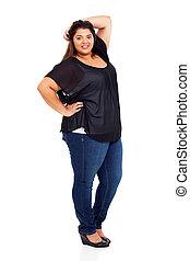 large teen girl full length portrait
