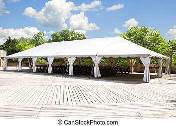 large tent for outdoor festivity