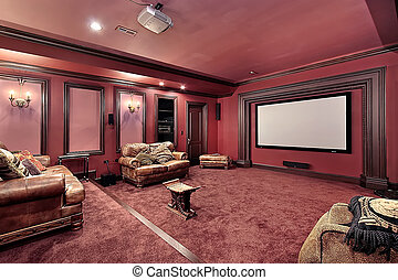 Large theater in luxury home