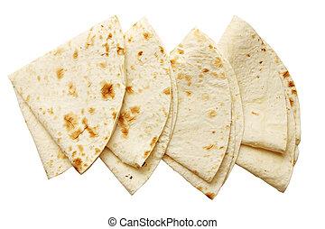 pita bread, isolated - Large thin pita bread, isolated on ...