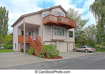 Large three story house - Single family house.