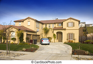Large tract home in Northern California with three car garage