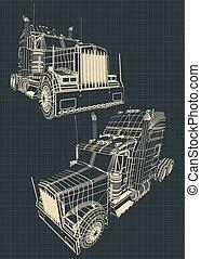 Large truck blueprints