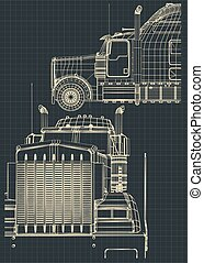Large truck drawings