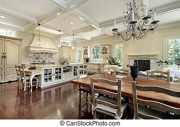 Large upscale kitchen - Large upscale suburban kitchen with...