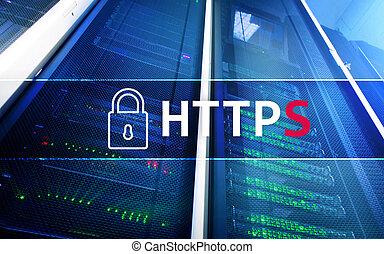 large, utilisé, protocole, assurer, transfert, web., https, mondiale, données