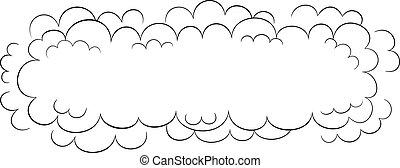 large, vecteur, nuage