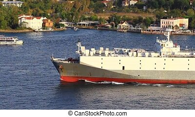 Large vehicles carrier ship