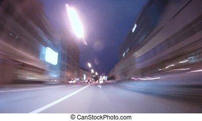 large, voitures, en ville, gamme, aller, autoroute